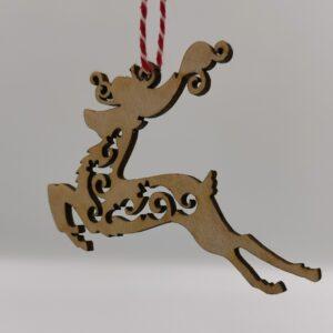 Julepynt i træ rensdyr