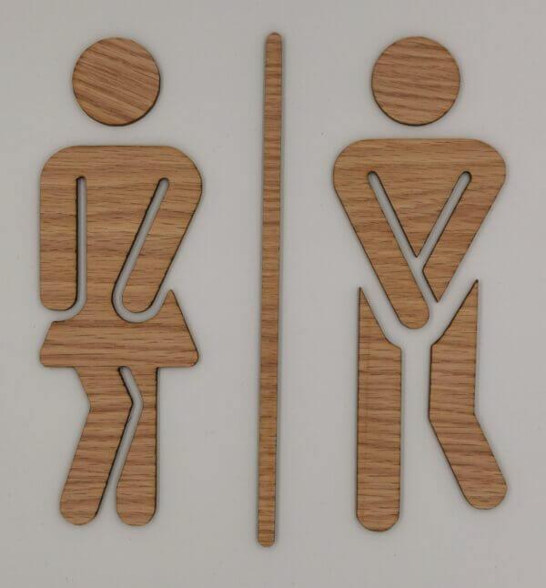Toiletikoner til toiletdør