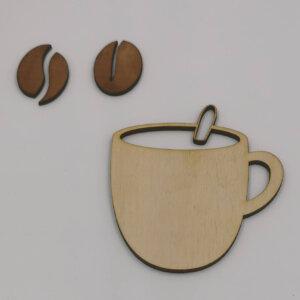 træ kaffekop