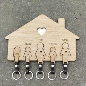 Nøglehus med 5 figurer